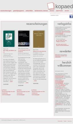 Vorschau der mobilen Webseite www.kopaed.de, kopaed verlagsgmbh