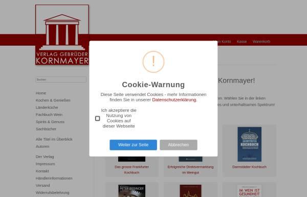 Vorschau von www.kornmayer-verlag.de, Verlag Gebrüder Kornmayer