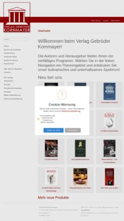 Vorschau der mobilen Webseite www.kornmayer-verlag.de, Verlag Gebrüder Kornmayer