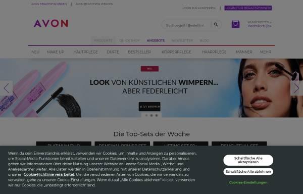 Vorschau von www.avon.de, Avon Cosmetics GmbH