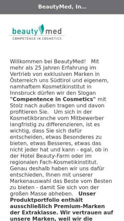 Vorschau der mobilen Webseite www.beautymed.at, Beautymed Handels-GmbH