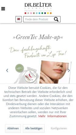 Vorschau der mobilen Webseite www.belter-cosmetic.com, Belcos Cosmetic GmbH