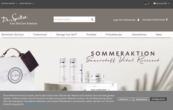 Vorschau von www.dr-spiller.com, Dr. Spiller Biocosmetic GmbH