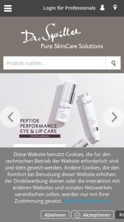 Vorschau der mobilen Webseite www.dr-spiller.com, Dr. Spiller Biocosmetic GmbH