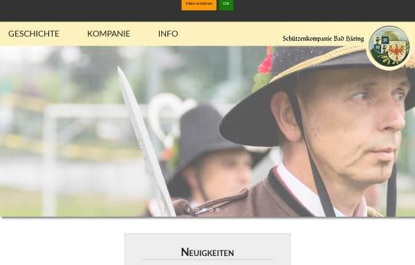 Vorschau von www.schuetzenkompanie-badhaering.at, Schützenkompanie Bad Häring