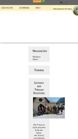 Vorschau der mobilen Webseite www.schuetzenkompanie-badhaering.at, Schützenkompanie Bad Häring