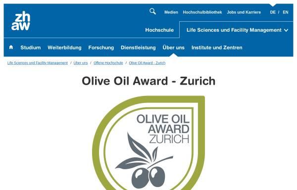 Vorschau von www.oliveoilaward.ch, International Olive Oil Award