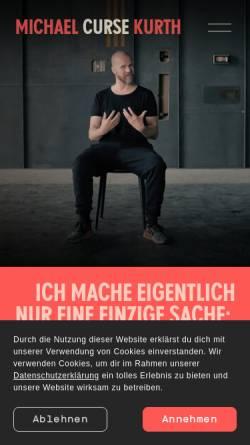 Vorschau der mobilen Webseite www.curse.de, Curse