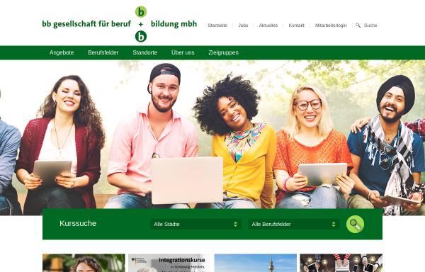 Vorschau von www.bb-gesellschaft.de, BB Gesellschaft für Beruf und Bildung mbH