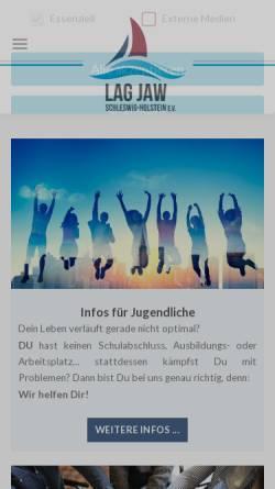 Vorschau der mobilen Webseite www.jaw-sh.de, JAW Schleswig-Holstein