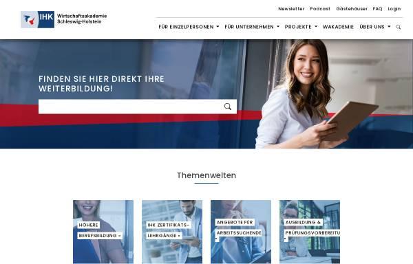 Vorschau von www.wak-sh.de, Wirtschaftsakademie Schleswig-Holstein