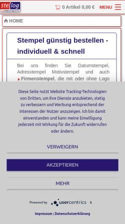 Vorschau der mobilen Webseite www.stelog.de, STELOG e.K., Inh. Matthias Gronkiewicz