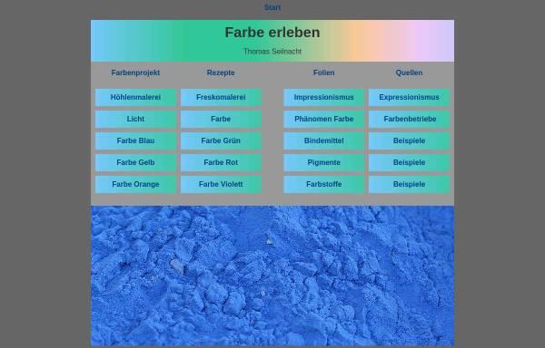 Vorschau von www.seilnacht.com, Lexikon der Farbstoffe und Pigmente