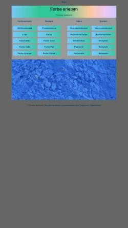 Vorschau der mobilen Webseite www.seilnacht.com, Lexikon der Farbstoffe und Pigmente
