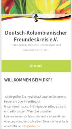 Vorschau der mobilen Webseite www.dkfev.de, Deutsch-Kolumbianischer Freundeskreis e.V.