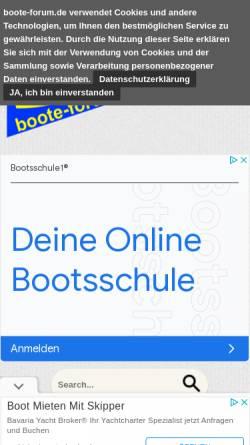 Vorschau der mobilen Webseite www.boote-forum.de, Boote-Forum