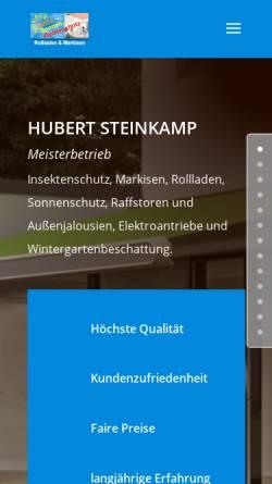 Vorschau der mobilen Webseite www.sicht-sonnen-wetterschutz.de, Hubert Steinkamp