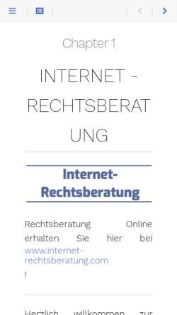 Vorschau der mobilen Webseite www.internet-rechtsberatung.com, Internet-Rechtsberatung.com