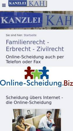 Vorschau der mobilen Webseite www.net-rechtsanwalt.de, Kah Christian
