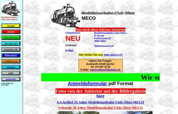 Vorschau von www.meco-olten.ch, MECO Modelleisenbahn-Club Olten