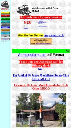 Vorschau der mobilen Webseite www.meco-olten.ch, MECO Modelleisenbahn-Club Olten