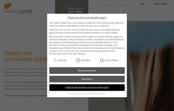 Vorschau von www.beautiful-smile.de, Zahnarztpraxis Brigitte Bayer