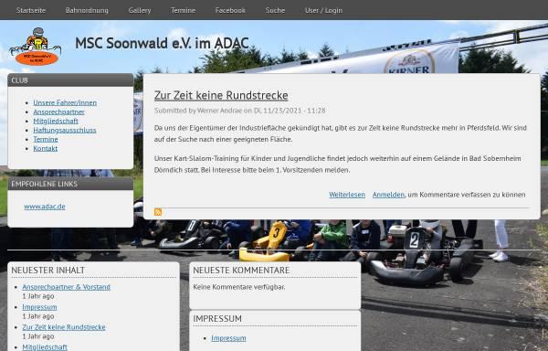 Vorschau von www.msc-soonwald.de, MSC-Soonwald e.V. im ADAC