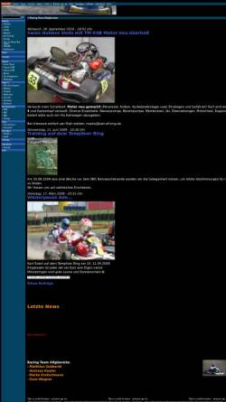 Vorschau der mobilen Webseite www.kart-driving.de, Racing Team Altglienicke