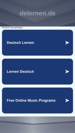 Vorschau der mobilen Webseite www.delernen.de, Deutsche Weihnachtslieder