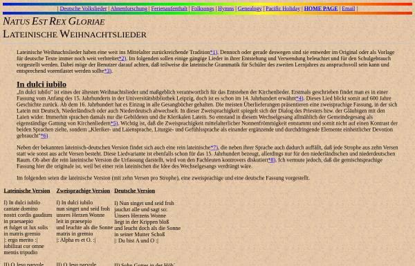 Vorschau von ingeb.org, Lateinische Weihnachtslieder