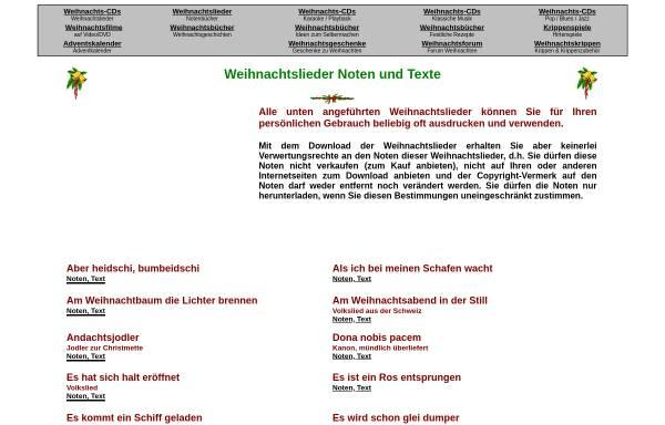 Vorschau von www.musica.at, Weihnachtslieder: Noten und Texte