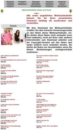 Vorschau der mobilen Webseite www.musica.at, Weihnachtslieder: Noten und Texte