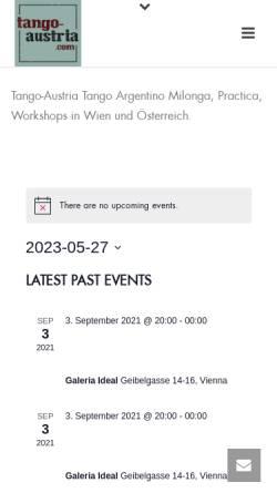 Vorschau der mobilen Webseite www.tango-austria.com, tango-austria.com