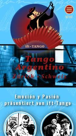Vorschau der mobilen Webseite www.tango.ch, tango.ch