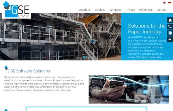 Vorschau von www.gse-software.de, Gesellschaft für Software-Entwicklung mbH