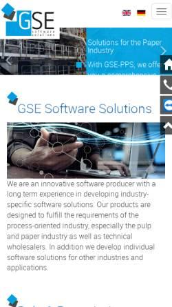 Vorschau der mobilen Webseite www.gse-software.de, Gesellschaft für Software-Entwicklung mbH