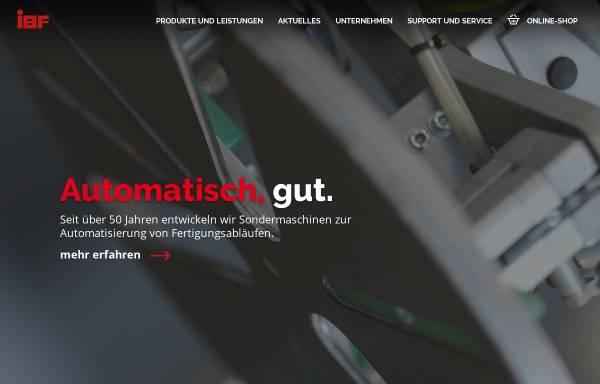 Vorschau von www.ibf-automation.de, IBF GmbH Freudenberg