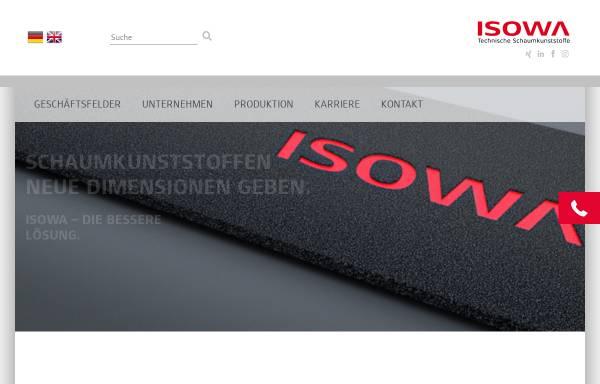 Vorschau von www.isowa.de, ISOWA GmbH - Technische Schaumkunststoffe