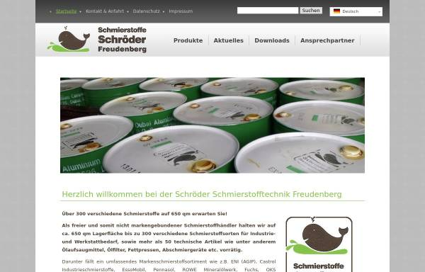 Vorschau von schroeder-schmierstoffe.de, Schröder KG Schmierstofftechnik
