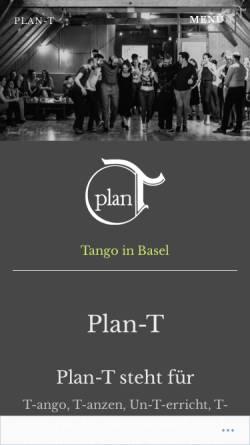 Vorschau der mobilen Webseite plan-t.ch, Plan-T