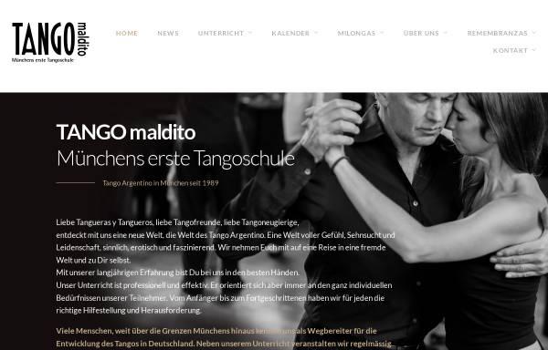 Vorschau von www.tango-maldito.de, Tango Maldito