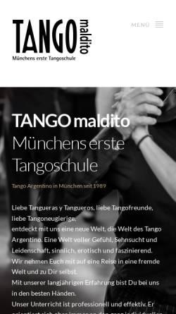 Vorschau der mobilen Webseite www.tango-maldito.de, Tango Maldito