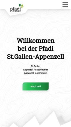Vorschau der mobilen Webseite www.pfadi-sgarai.ch, Pfadi Kantonalverband St. Gallen - Appenzell