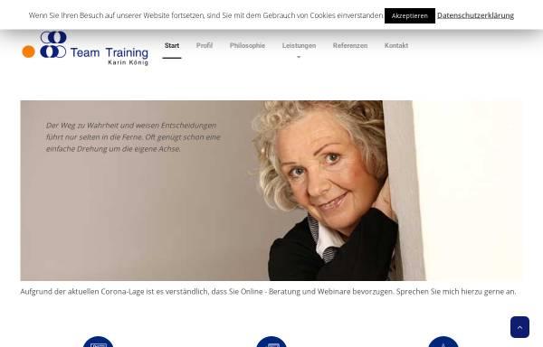 Vorschau von teamtkk.de, Team TKK - Team Training Karin König