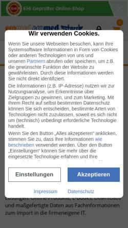 Vorschau der mobilen Webseite www.ecomed-sicherheit.de, ecomed Sicherheit