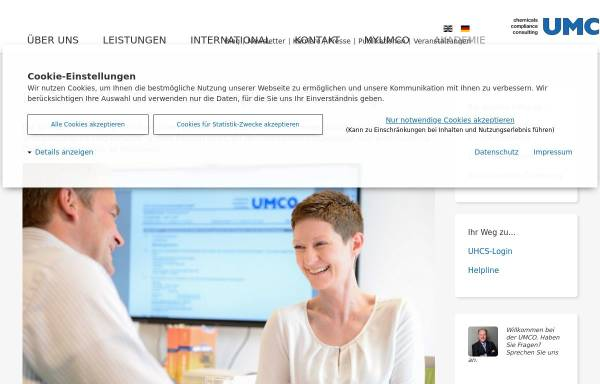 Vorschau von www.umco.de, UMCO Umwelt Consult GmbH
