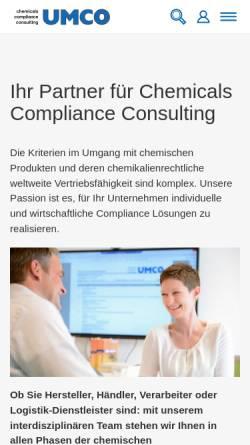 Vorschau der mobilen Webseite www.umco.de, UMCO Umwelt Consult GmbH