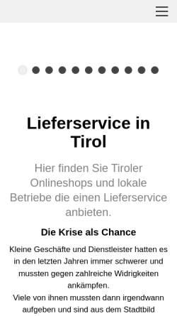 Vorschau der mobilen Webseite www.shopping-tirol.at, Tiroler Online-Auktion