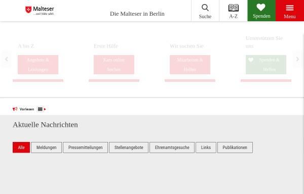 Vorschau von www.malteser-berlin.de, Malteser Hilfsdienst e.V. - Berlin
