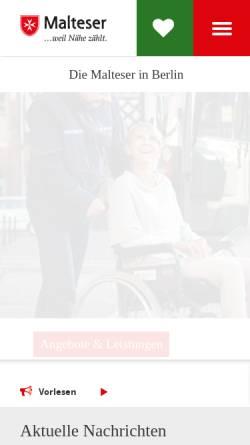 Vorschau der mobilen Webseite www.malteser-berlin.de, Malteser Hilfsdienst e.V. - Berlin